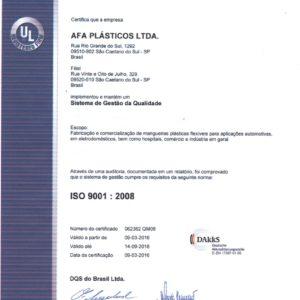 afa certificado
