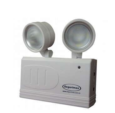 Luminaria emergencia 2 farois Led 200 lm