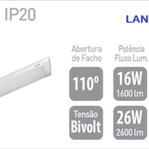 luminária T8