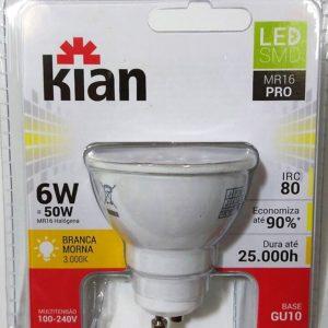 lampada led 6w dicroica amarela