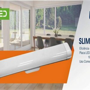 luminaria slim led 18w